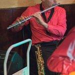 Pat Crawford on sax & flute