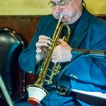 Sal plays trumpet with Pat Crawford Jazz Combo at DK's