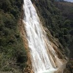 View of the Velo de Novia (bridal veil) cascade.