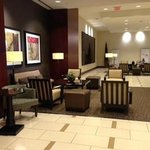 One of the several sitting areas in the lobby