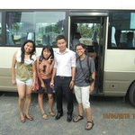 With one of our guide, Quang