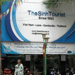 Front office of Sinh Tourist at De Tham St.
