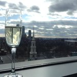 champagne greeting  with a fabulous view!