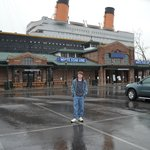My son in front of Titanic