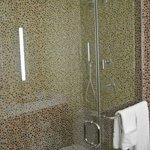 Rock tile shower