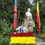 Bolivian flag on 6 de agosto
