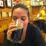 Kristen's first stout was at Denny's beer barrel pub.