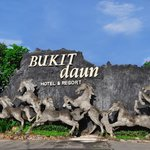 Gate entrance of Bukit Daun Hotel & Resort