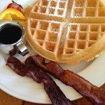 Belgian Waffle w/Bacon