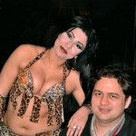 Check out he belly dancer!