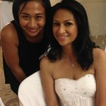 With Erika Faustino, Friday's wedding sales manager.