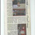 """article du journal local """"La Brise"""""""