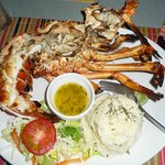 Grilled Lobster with mash