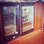 Mini bar in lounge