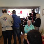 A packed out cafe!
