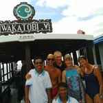 Dive Boat with happy crew and guests