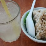 Home made chendol and fresh lemonade juice