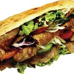 Come in and try a generously filled kebab.