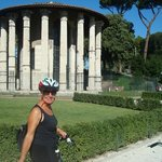 Bettina bike riding through Rome