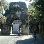 Bike riding out the Appian Way