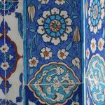 Some of the Iznik Tiles inside the mosque