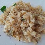 Il risotto gamberi e carciofi