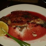 Trout in pomegranate sauce