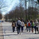 Walking to the Brandenburg Gate
