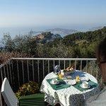 La terrasse du petit-déjeuner