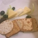 Cheese and biscuits. Yummy!