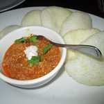 Pork dip with prawn crackers