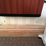 the Corby trouser press was quaint, the holes just scruffy (room 313)