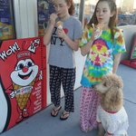 Pajama Day at Browser's. Even the pup had ice cream.