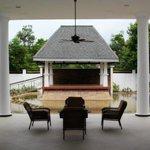 Clean and serene pool terrace
