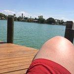Sonnen auf dem Dock