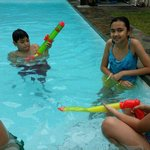 My guests' loved the pool and the water guns that the b&b let them play with. :)