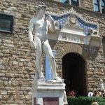 """""""David"""" taken in the Piazza della Signoria"""