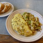 Green Chili Swiss Omelet...