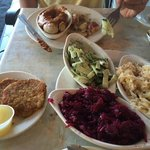 Fabulous German sausage, red cabbage and more!