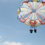 Our friends parasailing