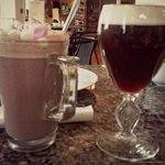 Irish Coffee and Hot Chocolate at O'Regan's Restaurant in Foynes Flying Boat Museum
