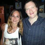 Chiara (desole pour l'ecriture!) the bar manager et moi!