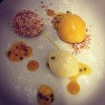 white chocolate, mango, coconut, passion fruit