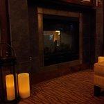 Nice fireplace in lobby