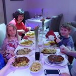 Karl and his amazing family enjoying a meal at Zengh