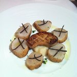 Scallops with pan-fried foie gras. Excellent!