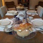 Mesa y desayuno de cinco estrellas