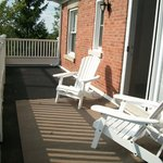 Upper storey verandah for guest use