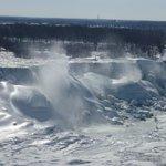 Frozen Niagara Falls. March 7, 2014