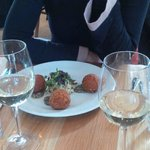 scrummy beetroot and cheese fried balls!